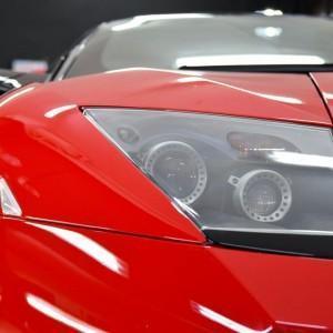 Oklejony czerwoną folią ochronną Lamborghini Murcialego 1