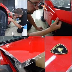Oklejanie Lamborghini Murcialego w Deep Shine Detailing
