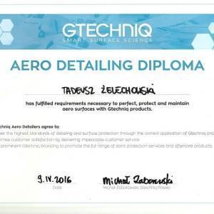Certyfikat GTECHNIQ dla Tadeusza Żelechowskiego