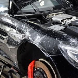 Porsche Macan zabezpieczenie folią bezbarwną + powłoka cs ultra 2