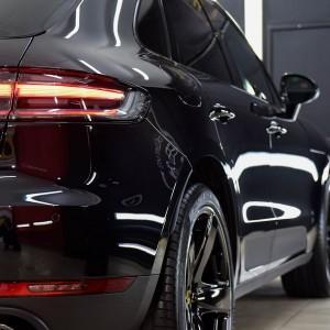 Porsche Macan zabezpieczenie folią bezbarwną + powłoka cs ultra 3