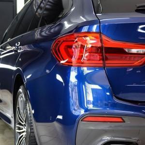 BMW 5 zabezpieczenie folią bezbarwną + powłoka cs ultra 1