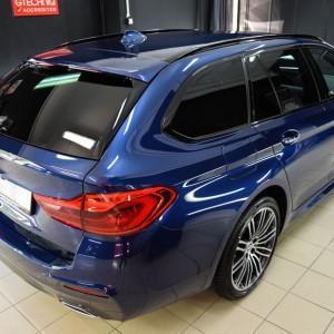 BMW 5 zabezpieczenie folią bezbarwną + powłoka cs ultra 3