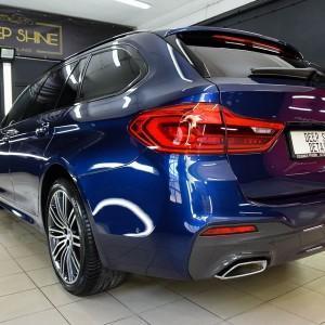 BMW 5 zabezpieczenie folią bezbarwną + powłoka cs ultra 2