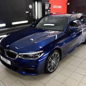 BMW 5 zabezpieczenie folią bezbarwną + powłoka cs ultra 4