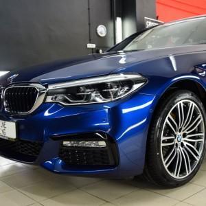BMW 5 zabezpieczenie folią bezbarwną + powłoka cs ultra 7