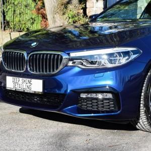 BMW 5 zabezpieczenie folią bezbarwną + powłoka cs ultra 6