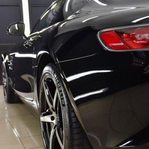 Mercedes GTS AMG zabezpieczenie folią bezbarwną + powłoka cs ultra 16