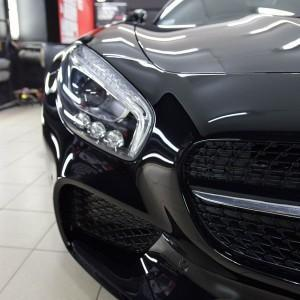 Mercedes GTS AMG zabezpieczenie folią bezbarwną + powłoka cs ultra 14
