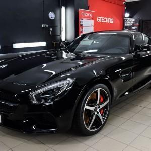 Mercedes GTS AMG zabezpieczenie folią bezbarwną + powłoka cs ultra 12