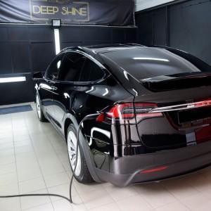Tesla X zabezpieczenie folią bezbarwną + powłoka cs ultra 1