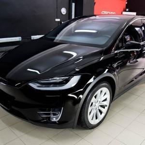 Tesla X zabezpieczenie folią bezbarwną + powłoka cs ultra 6