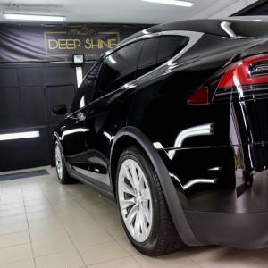 Tesla X zabezpieczenie folią bezbarwną + powłoka cs ultra 12