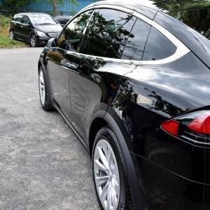 Tesla X zabezpieczenie folią bezbarwną + powłoka cs ultra 13