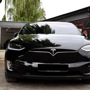 Tesla X zabezpieczenie folią bezbarwną + powłoka cs ultra 14