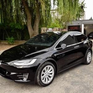 Tesla X zabezpieczenie folią bezbarwną + powłoka cs ultra 15