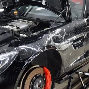oklejanie Mercedesa GTS AMG w Deep Shine Detailing w Szczecinie