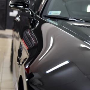 oklejony bezbarwną folią Mercedes GTS AMG 1