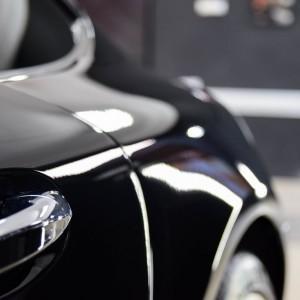 oklejony bezbarwną folią Mercedes GTS AMG